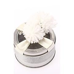 Favor válců Plechovky s bílou květinu-sada 6