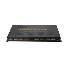 HDMI Splitter 1 tulo 16 ulostulo vahvistimen kytkin laatikko napa 1x16 HDTV 1080p 3D, tukea EDID, 4kx2k, v1.4