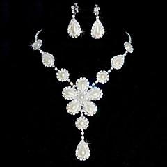 Conjunto de joyas De mujeres Boda / Fiesta Sets de Joya Perla / Aleación / Diamantes Sintéticos Diamantes Sintéticos Pendientes / Collares