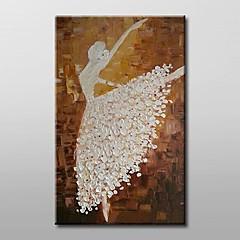 peint à la main peinture à l'huile abstraite danseur moderne avec cadre étiré prêt à accrocher