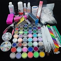 90pcs Glitter UV Gel Reiniger Primer Nail-Art-Kit-Set