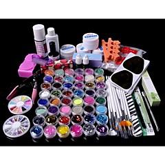 88PCS Glitter UV Gel Cleanser Primer Nail Art Kit Set