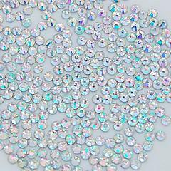 1400-pakning 2mm glitter Krystall ab Rhinsten Neglekunst dekorasjon