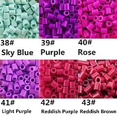ca. 500 stuks / zak 5mm perler kralen smelten kralen hama kralen eva materiaal safty voor kinderen (diverse B38-B43)