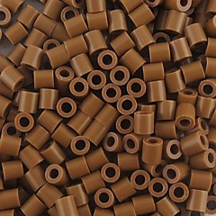 ca. 500 Stück / Beutel 5mm Kaffee perler Perlen Bügelperlen Hama Perlen DIY Puzzle EVA-Material safty für Kinder