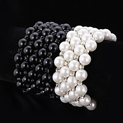 U7®Women's High Quality Synthetic European Pearl Beads  Cool Bangle Bracelet Austrian Rhinestone Jewelry Gift for Girl