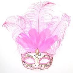 Maska Princeznovské Pohádkové Festival/Svátek Halloweenské kostýmy Růžová Tisk Maska Halloween Karneval Dámské PVC