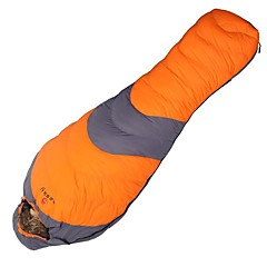 Sleeping Bag Mummy Bag Single -10°C Duck Down 1000g 210X80 Camping / OutdoorMoisture Permeability / Moistureproof / Waterproof /
