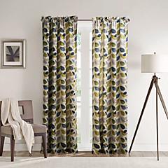 philips young - zwei Platten modernen minimalistischen Mehrfarbenblätter Gardinen Vorhänge