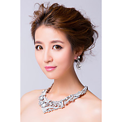 Jewelry Set Women's Anniversary / Wedding / Engagement / Party / Special Occasion Jewelry Sets Silver / Alloy RhinestoneNecklaces /