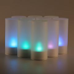 12pcs αισθητήρα ήχου τρεμόπαιγμα 7 αλλαγή χρώματος οδήγησε φως των κεριών