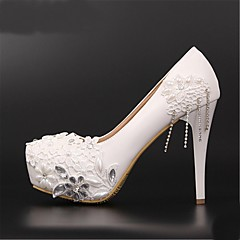 Women's Wedding Shoes Heels/Platform/Round Toe Heels Wedding Red/White