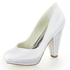 Women's Fall Heels / Platform Satin Wedding Platform Bowknot Black / Pink / Purple / Red / Ivory / White / Silver / Champagne
