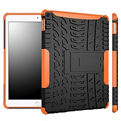 Dois-em-um listras cor de deslumbramento projetar pc e silicone caso com suporte para o ar iPad (2017) Pro10.5 Pro9.7 iPad Air Air2 iPad234 mini 1234