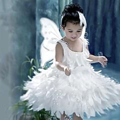 Szerepjáték Jelmezek Mikulás ruhák Fesztivál/ünnepek Mindszentek napi kösztümök Fehér Egyszínű Ruha Szárnyak Karácsony Gyermek