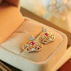 Lovely Crown Crystal Earrings