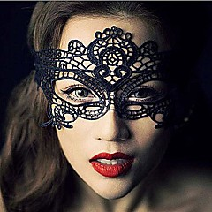 マスク コスプレ イベント/ホリデー ハロウィーンコスチューム ブラック レース / ゼブラプリント マスク ハロウィーン 男女兼用 レース