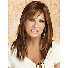 Capless High Quality Pretty Medium Straight  Brown  Hair Wig