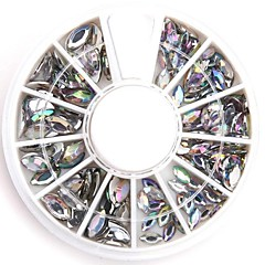 Mixed Sizes Clear Oval Nail Art Crystal Acrylic Rhinestones Glittery Fake Diamond for Nail Design