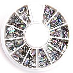 네일 디자인을위한 혼합 크기는 명확한 타원형 네일 아트 크리스탈 아크릴 스톤 윤기 가짜 다이아몬드