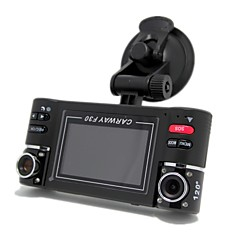 "Dual Lens 2.7""LCD Car Dual Camera with Night Vision, HD Car DVR Vehicle Black Box Driving Camcorder Video Recorder"