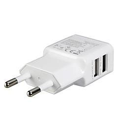 EU Plug Dual USB hálózati adapter fali töltő iPad, iPhone& samsung