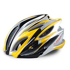 fjqxz 23 aberturas eps + pc amarelo integralmente-moldados capacete ciclismo (58-63cm)