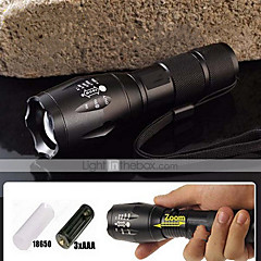 5 Mode 2000 LM CREE XM-L T6 Zoomable Focus LED Flashlight(18650,Battery Charger)