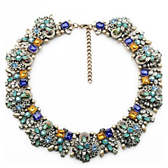 colar de moda colares de flores do vintage& pingentes de cristal declaração gargantilha colar