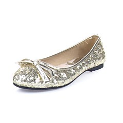 Women's Wedding Shoes Round Toe Flats Wedding Red/Silver/Gold