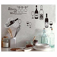 Wall Stickers Wall Decals, Style Wine Bottle PVC Wall Stickers