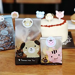 120pcs schattige dieren stickers geschenk doos snoep bakken ambachtelijke verpakking seal gunsten baby douche bruiloft feest decoraties