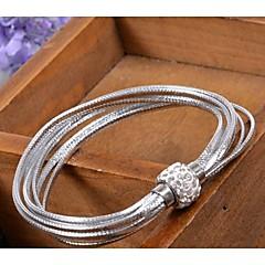 Unisex Chain/Fashion Bracelet Leather Rhinestone