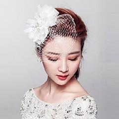 Femme Alliage / Imitation de perle / Filet / Tissu Casque-Mariage / Occasion spéciale / Extérieur Fleurs / Voile de cage à oiseaux