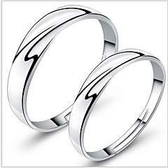 925 Couples' Silver Wedding Rings (2 pcs)