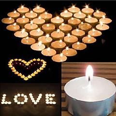 10st witte vlamloze ongeparfumeerde votiefkaarsen theelichtje bruiloft home decor