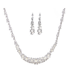Ladies'/Women's Alloy Wedding/Party Jewelry Set With Pearl/Rhinestone