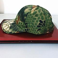 pesca ESDY outdoor boné de beisebol camuflagem poliéster chapéu à prova de vento sol viseira python verde