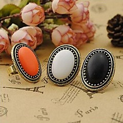 Naisten Tyylikkäät sormukset Tyylikäs Muoti Vintage pukukorut Gemstone Metalliseos Circle Shape Korut Käyttötarkoitus Party Päivittäin