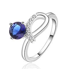 Anéis Mulheres Zircônia Cubica Prata Prata 8 Prata As cores de embelezamento estão disponiveis na imagem.