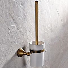 Toiletbørsteholder Antik messing Vægmonteret 410*148mm(16.14*5.82inch) Messing Antik