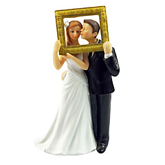 Figurky na svatební dort Nepřizpůsobeno Pryskyřice Dárky pro novorozeně Bílá Dárková krabička