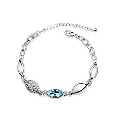 Charming Sterling Silver Plated Rhinestone and Crystal Women's Bracelet More Colors available