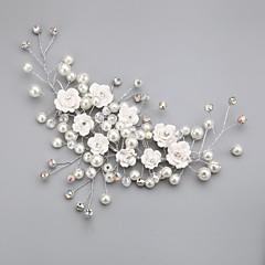 Vrouwen / Bloemenmeisje Kristallen / Licht Metaal / Imitatie Parel Helm-Bruiloft / Speciale gelegenheden / Buiten Bloemen Helder