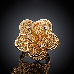European Style Flower Copper Ring(Gold)(1Pc)