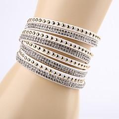 Fashion Rhinestone Buckle Ornamental Bracelet