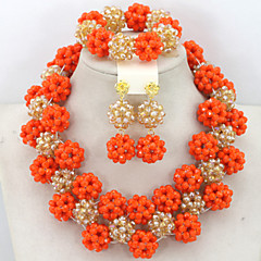 Amazing New 2015 Wedding Bridal Jewelry Set Nigerian Costume Jewelry Set 18K Gold Jewelry Set Dubai