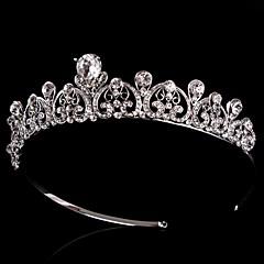 Vrouwen / Bloemenmeisje Sterling zilver / Licht Metaal Helm-Bruiloft / Speciale gelegenheden Tiara's / Hoofdbanden / Bloemen Zilver