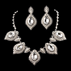 Jewelry Set Women's Anniversary / Wedding / Engagement Jewelry Sets Cubic Zirconia / Alloy Necklaces / Earrings Silver