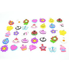 20pcs diy twistz siliconen bandz elastiekjes armbanden hangers ornamenten regenboog kleur weefgetouw stijl voor kinderen